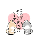 ほんわかしばいぬ<春>(個別スタンプ:12)