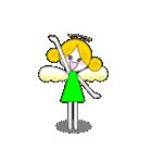 ほんわか天使ちゃん(文字なし)(個別スタンプ:3)