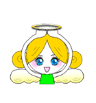 ほんわか天使ちゃん(文字なし)(個別スタンプ:4)