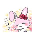 大人かわいい♡キラプリうさぎ♡(個別スタンプ:10)