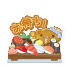 皿の上のクッキンぐま(個別スタンプ:5)