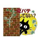 黒ねこの夏便り(個別スタンプ:07)