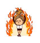 うつろめ女子・野球編(個別スタンプ:40)