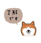 Every Day Dog 柴犬 日本語(個別スタンプ:08)