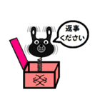 BLACK BUNNY 001 2(個別スタンプ:08)