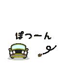 まんまる丸目のブルくんバドちゃん♪(個別スタンプ:24)