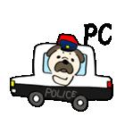 パグ警察(個別スタンプ:1)