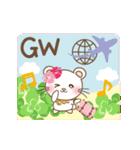 ぱんにゃの動く♥春の日常スタンプ(個別スタンプ:15)