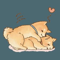 可愛い柴犬の日常スタンプ3