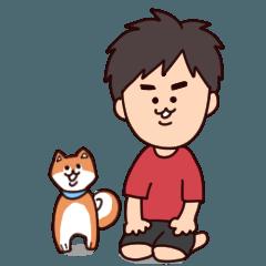 たかちゃんと柴犬