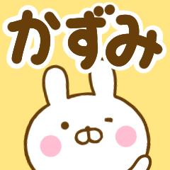 ☆かずみ☆が使う名前スタンプ