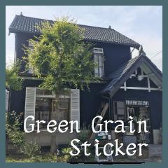 Green Grain Sticker