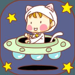 動くぽてちびちゃん(ネコ)