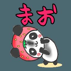 イチゴinまおパンダの日常会話(苗字/名前)