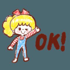 ゆるふわヘアちゃんの簡単英語