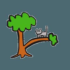 Careless gray cat