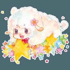星の羊スタンプ