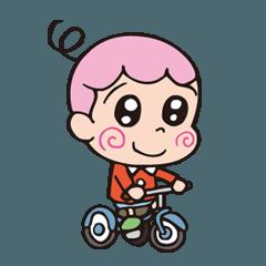 [LINEスタンプ] てんちゃいバカボン ハジメちゃん (1)