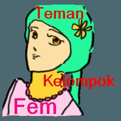 Indonesian women's sticker