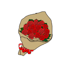 花束のプレゼント