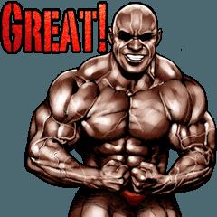 [LINEスタンプ] 筋肉マッチョマッスルスタンプ 12 (1)