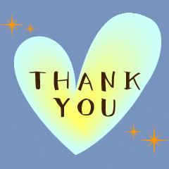 光る★ハートが灯る★ありがとう感謝&挨拶
