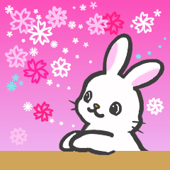 [LINEスタンプ] 花兎 (1)