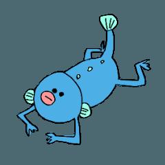 半魚人のスタンプ