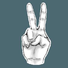 [LINEスタンプ] よくあるハンドサインスタンプ (1)