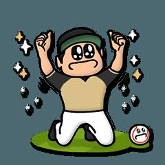 金×白 野球スタンプ★便利な汎用40個
