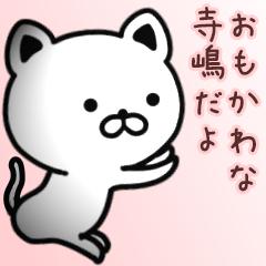 寺嶋さん専用面白可愛い名前スタンプ