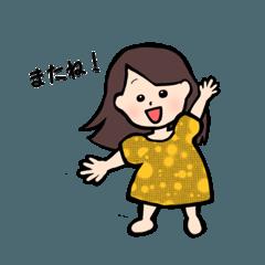 日常で使える女の子スタンプ!