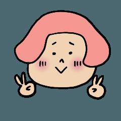 キノコのピンクちゃん