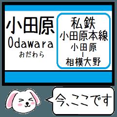 小田原本線 いまこの駅だよ!タレミーその1