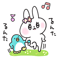 [LINEスタンプ] 女子うさぎ 春