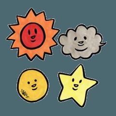 太陽・雲・月・星 2
