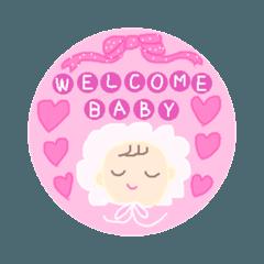 赤ちゃんスタンプ♡女の子