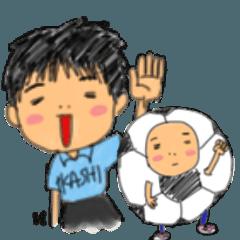 吹き出し家族in兄妹3(サッカー習い事編)