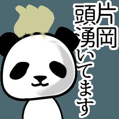 片岡■面白パンダ名前スタンプ