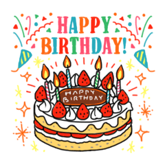 おしゃれなお誕生日&お祝い&ありがとう