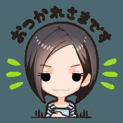 【敬語女子3】前下がり系ショートボブさん