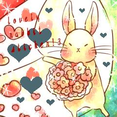 Lovely rabbit sticker!第三弾(文字なし)