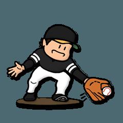 黒×黄 野球スタンプ★便利な汎用40個