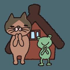 合掌のネコ、マオちゃん