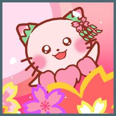お花にゃん1