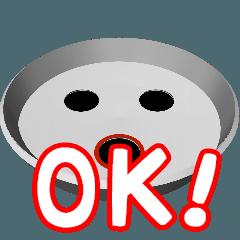 クルーンとパチンコ玉のアニメスタンプ